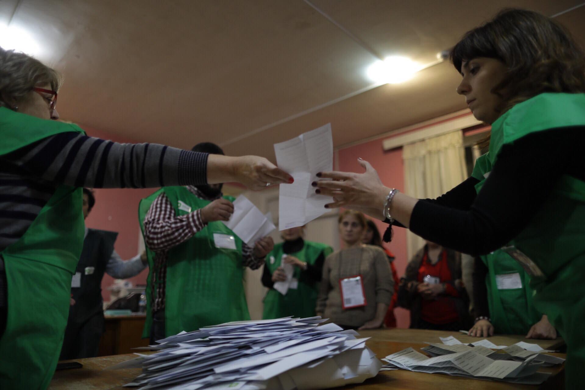 Photo of საარჩევნო უბნები დაიხურა, ხმის დათვლა დაიწყო