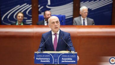 Photo of Georgian FM Addresses PACE as Chair of CoE Committee of Ministers