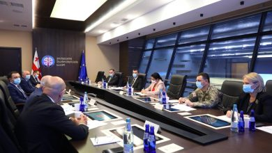 Photo of Georgia's National Security Council on Karabakh Developments