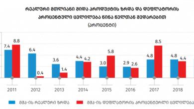 Photo of საქსტატი: 2019 წელს მშპ-ის ზრდა 5.0 % იყო