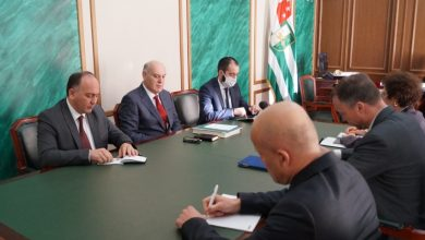Photo of Geneva Talks Co-Chairs Visit Sokhumi, Tskhinvali
