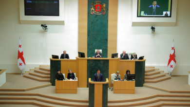 Photo of Speaker Talakvadze Delivers Annual Report