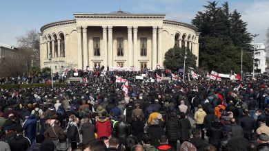 Photo of Massive Rally Held in Kutaisi Against Namakhvani HPP