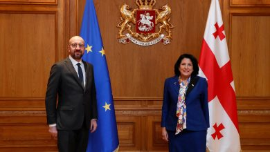 Photo of European Council President Meets Georgian Leaders